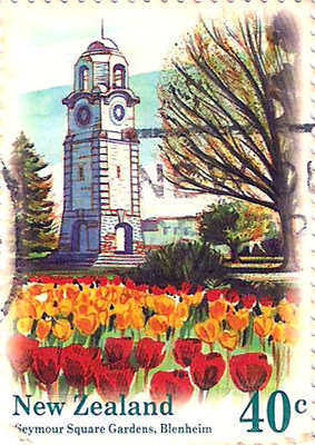 New Zealand Seymour Square Gardens Stamp