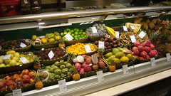 Fruit counter in Kauf des Westens