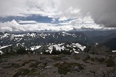 Mt_Rainier_6137 (absencesix) Tags: travel sky snow mountains nature weather clouds washington nationalpark unitedstates iso400 july noflash mountrainiernationalpark northamerica 1020mm 2008 locations locale 13mm canoneos30d geocity camera:make=canon exif:make=canon exif:iso_speed=400 apertureprioritymode topano july262008 naturallocale summer2008travel panoramasections selfrating0stars exif:focal_length=13mm 11000secatf11 geostate geocountrys exif:lens=100200mm exif:model=canoneos30d camera:model=canoneos30d exif:aperture=11 subjectdistanceunknown mountrainierwa07262008