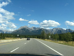 driving in Banff NP (functoruser) Tags: mountains alberta banffnationalpark transcanadahighway1 speedlimit90kmhr