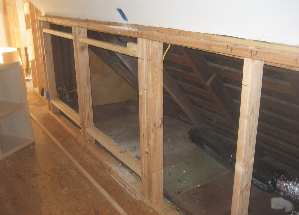 Exceptionnel Knee Wall Framing From The Shelves Side (soukup) Tags: Bedroom Attic  Cabinets Builtin