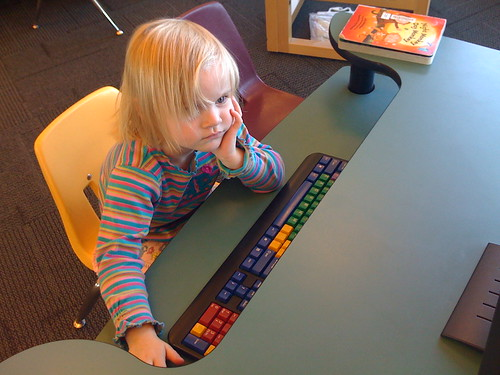 Hannah at the Calgary Public Library