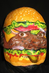 #155. CheeseBurger Deluxe! (hawhawjames) Tags: selfportrait art face cheese painting tomato lunch facepainting paint body beef burger makeup bodypaint lettuce cheeseburger hamburger slider onion bodypainting 365 facepaint bodyart 365days