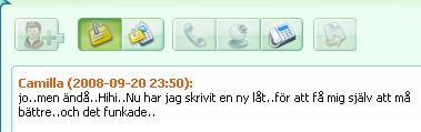 ICQ meddelande