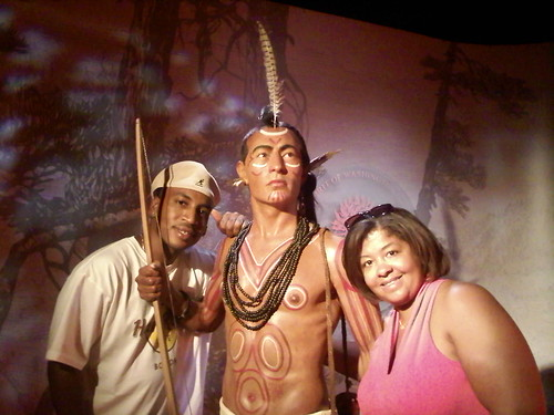 Me and my bro hanging with Chief Tupac at Madame Tussauds in DC