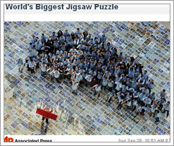 Big congrats to Ravensburg, Germany from Quicken Loans DIFF blog for world's largest puzzle! by whatsthediffblog, on Flickr