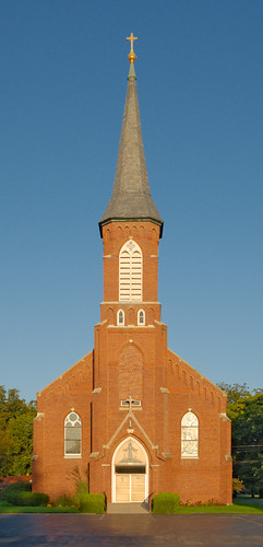 Saint Francis of Assisi Roman Catholic Church, in Portage des Sioux, Missouri, USA - exterior
