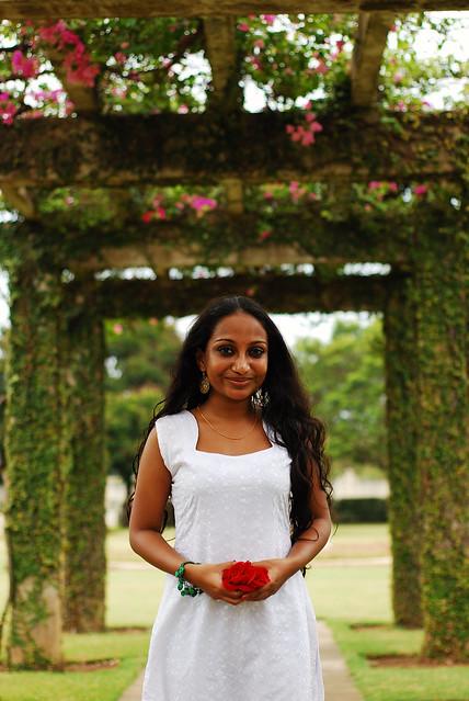 Sharanya. She smiles. Sometimes.