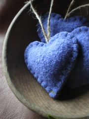 lavender (lilfishstudios) Tags: decorations wool felted hearts handmade lavender craft ornaments handsewn etsy sachets repurposed lilfishstudios feltedwoolsweater