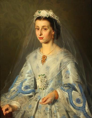 """Portrait of Meeta Meese, Bride"""