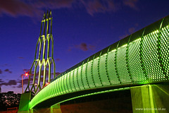 Ignition (Adam Dimech) Tags: bridge light sculpture art night evening twilight dusk overpass australia melbourne pedestrian victoria led freeway rocket tollway greet eastlink wantirna pedestrianoverpass seita mitchamfrankstonfreeway pumpsroad pumpscourt