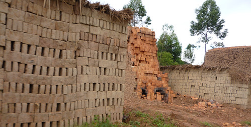 Ugandan brick-making