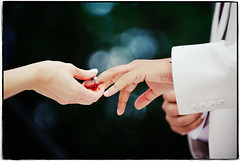 With this ring (Ryan Brenizer) Tags: wedding love newjersey hands nikon bokeh photojournalism august ring weddingring 2008 70200mmf28gvr d700 yelenaandwassim