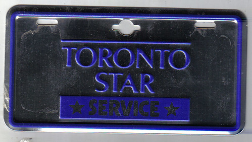TORONTO, ONTARIO 1960'S TORONTO STAR NEWSPAPER DELIVERY BICYCLE plate