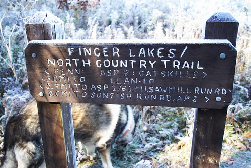 FLT NCT Wooden Sign at Trailhead