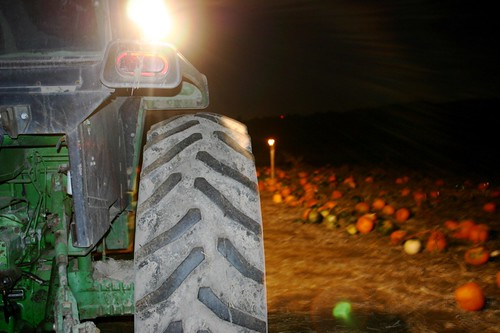 nighttime on a tractor