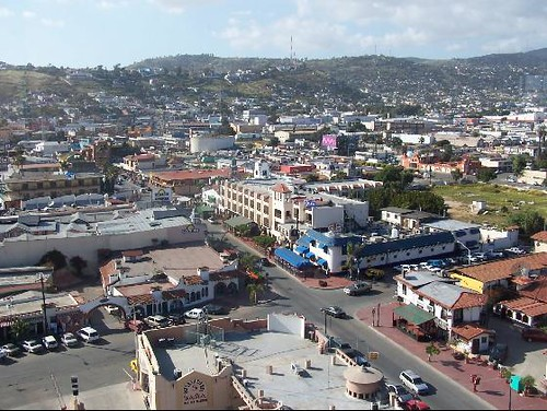 View of Ensenada from atop our Hotel