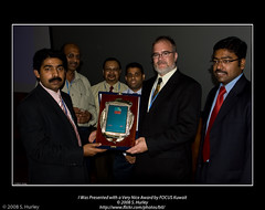 I Was Presented with a Very Nice Award by FOCUS Kuwait