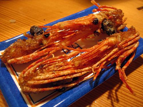 Deep fried shrimp heads