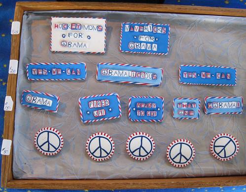 Cynthia Olcott's awesome Obama pins