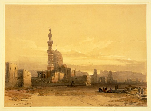 007-Tumbas de los Califas el Cairo- David Roberts- 1846-1849