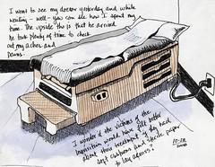 The Doctor's Workbench (jimbumgarner) Tags: watercolor sketch sketchbook doc