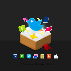 App Icon | EventBox (Na) Tags: cloud design mac flickr rss icon app facebook digg reddit twitter eventbox pownce 32px thecosmicmachine