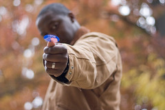 The Most Powerful Man in America (jakarachuonyo) Tags: autumn fall virginia bokeh tripod vote obama mccain rc1 wideopen suffrage primelens 2008election focallength50mm canonrebelxti aperturef18 lenscanonef50mmf18 shootingmodemanual flashnone exposure1160sec