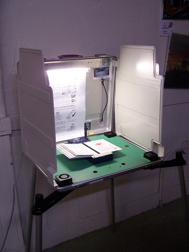 short voting booth