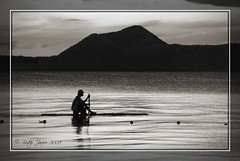 """Boatless"" (Butch Javier  NAUI#48102) Tags: blackandwhite bw lake nature monochrome volcano fisherman nikon philippines taal scenes flickrlovers"