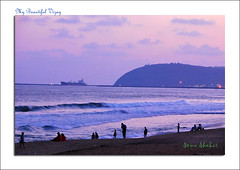 Sunset over RK beach (coold) Tags: sunset beach vizag vizagbeach