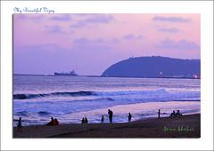 Sunset over RK beach (coold) Tags: sunset beach vizag vizagbeach