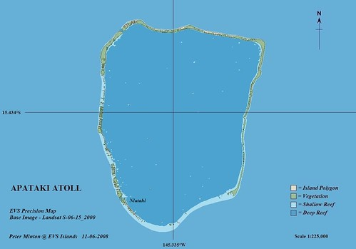 Apataki Atoll FP - EVS Precision Map from Landsat S-06-15_2000 and DigitalGlobe (1-225,000)