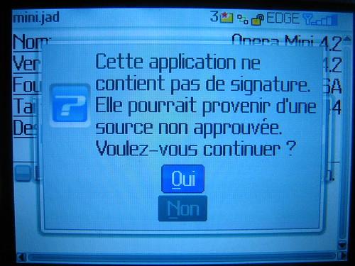 Télécharger et installer Opera Mini sur Blackberry Curve 8310 03