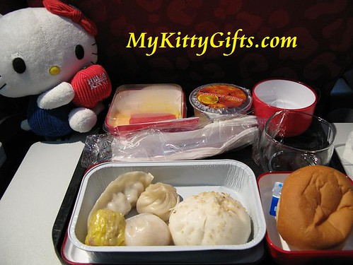 Hello Kitty's Dim Sum Breakfast in Cathay Pacific Airlines