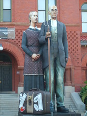 Three dimensional American Gothic replica in Key West, Florida (SnapShotStar) Tags: vacation art museum outside florida keywest americangothic 10millionphotos flickrchallengegroup flickrchallengewinner
