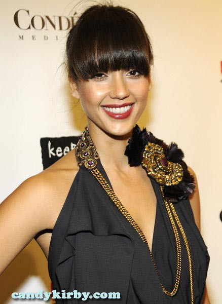 Jessica Alba and Her Bangs at the