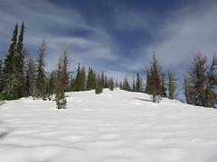 Snowy ridge.