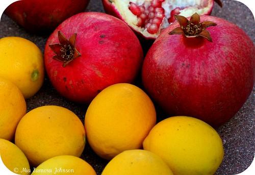 Picking pomegrantes & meyer lemons
