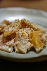 柿とツナのマヨネーズ合え