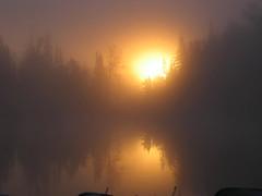 Saganaga Sunrise (cowboymac12) Tags: 2004 sunrise canoe waters boundarywaters bwca saganaga