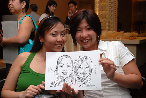 Caricature live sketching for Far East Organisation SPH Media Night The Miro 8