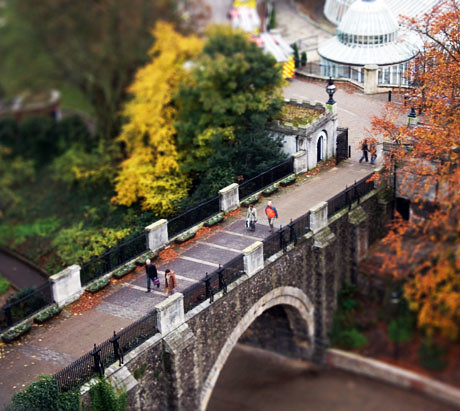 Bridge over castle gardens