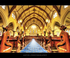 The Scot's Church, Melbourne :: HDR (Artie | Photography :: I'm a lazy boy :)) Tags: church architecture modern photoshop canon carpet design russell cs2 tripod australia melbourne wideangle arches victoria symmetry benches 1020mm collin hdr presbyterian collinsstreet scots classy artie russellstreet 3xp sigmalens photomatix scotschurch tonemapping tonemap 400d rebelxti