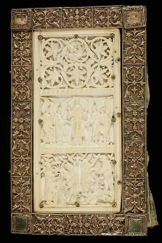 010a- Evangelium longum-contratapa- considerada de valor mundial- Biblioteca Sangallense- hacia el año 895