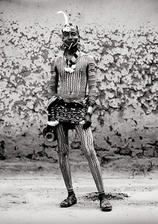 Hamar man with body painting, Turmi Ethiopia