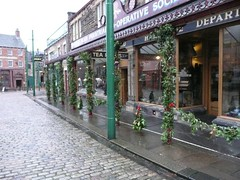 Garlands on the Co-op Arcade (Terry Pinnegar Photography (2.5 million views!)) Tags: christmas museum store arcade garland beamish evergreen edwardian cooperative countydurham