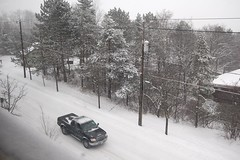 Today's Snowstorm on Maple Ave