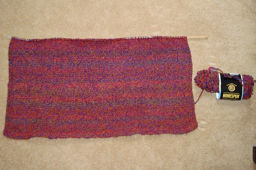 Knit Homespun Baby Blanket 3