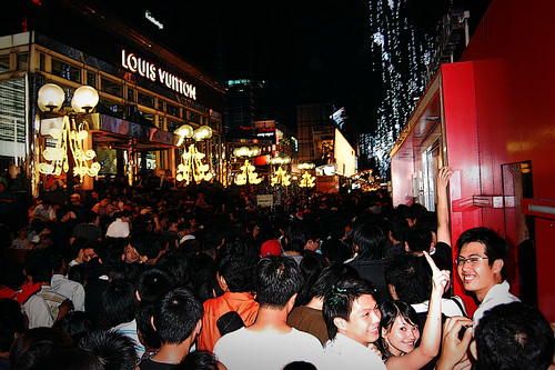 Christmas Crowd at Orchard Road, Singapore (2007)